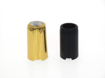 画像1: 一升瓶キャップシール(首長)■50枚組■黒ツヤ消し